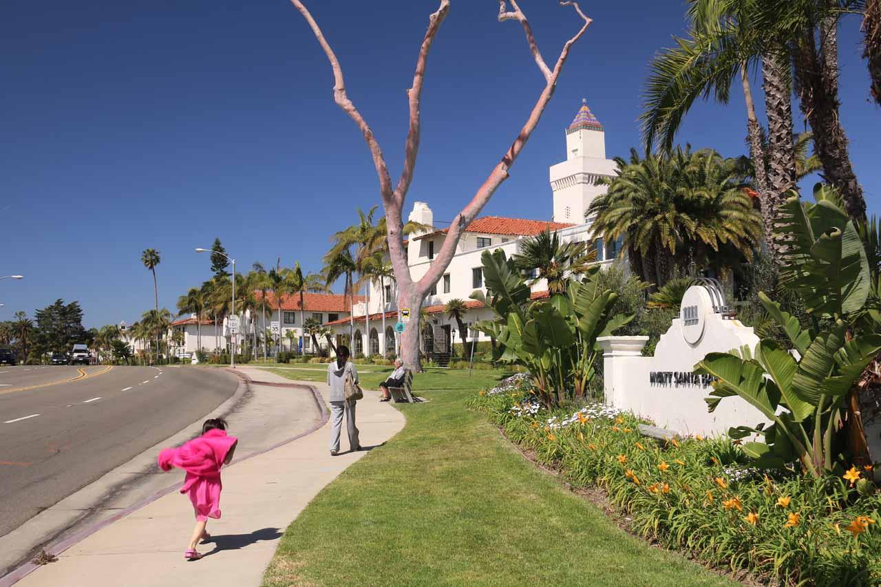 Julie and Tahia returning to the Hyatt Centric Santa Barbara