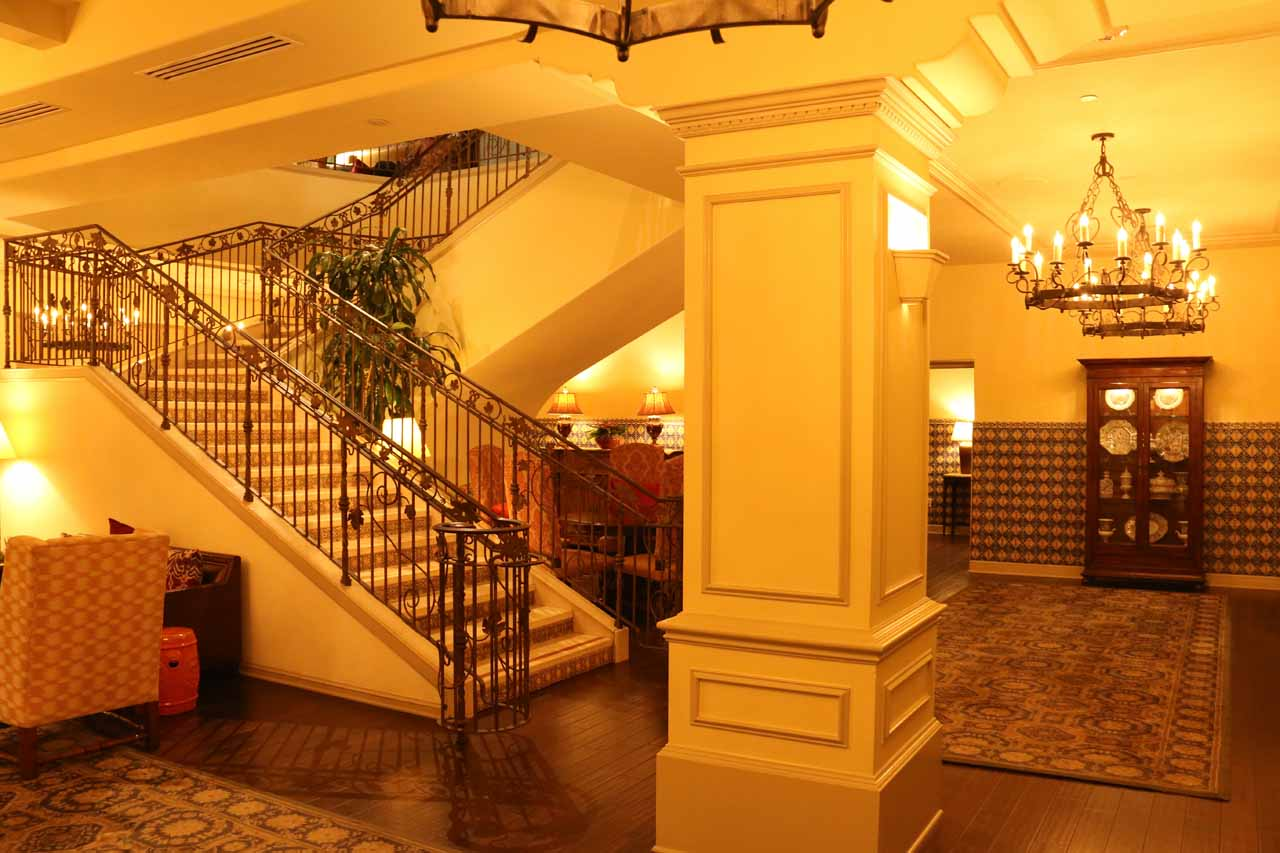 Downstairs at the hotel attached to the Finch and Fork Restaurant in downtown Santa Barbara