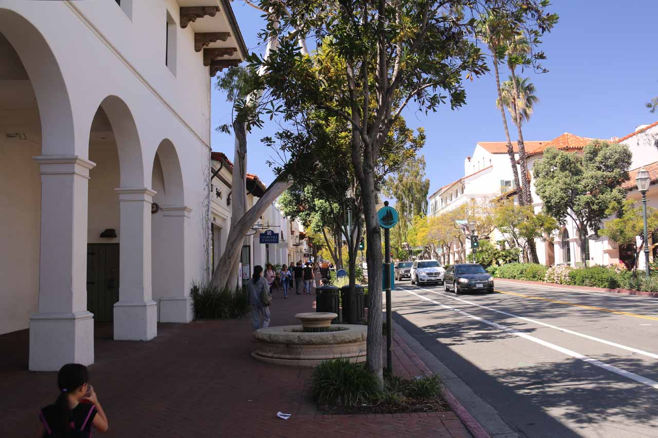 Continuing to stroll along State Street in downtown Santa Barbara after our brunch