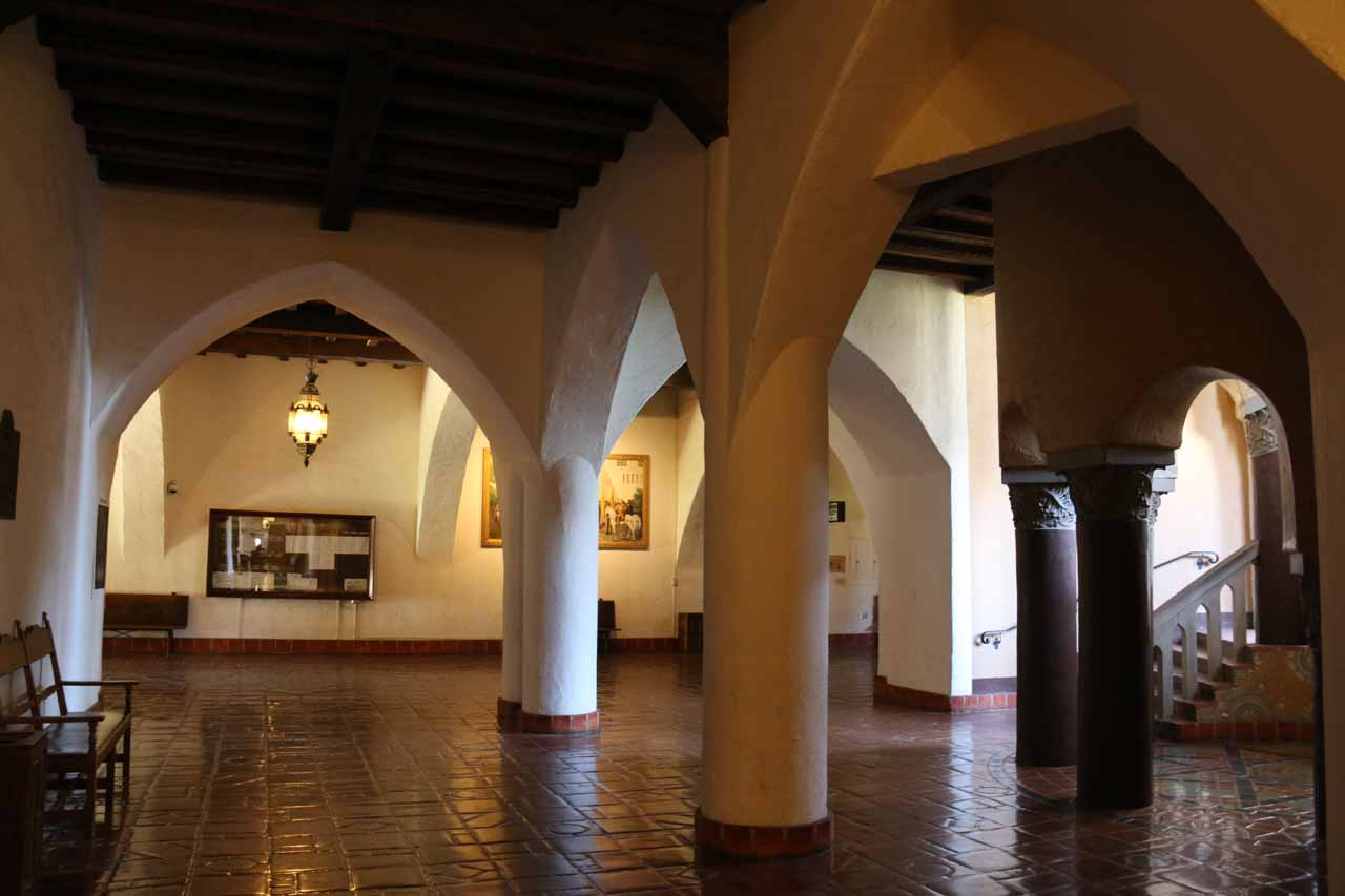 On the ground floor of the Santa Barbara Courthouse