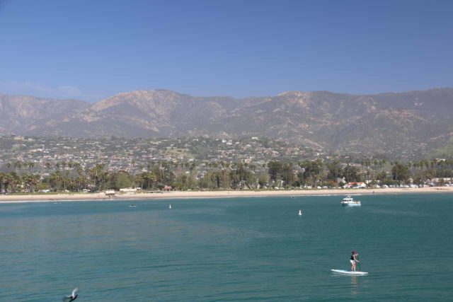 Santa_Barbara_17_181_04022017 - This was the view back towards Santa Barabara and its backing mountains from the end of the Stearns Pier