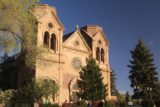 Santa_Fe_024_04142017 - Angled look back from the across the street towards the Cathedral Basilica of St Francis of Assisi