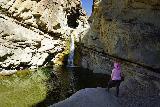 Santa_Paula_Canyon_146_03052021 - Another look at Mom checking out the Santa Paula Canyon Falls in the late morning