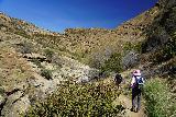 Santa_Paula_Canyon_153_03052021 - Context of Dad and Mom continuing beyond the main Santa Paula Canyon Falls in pursuit of more punch bowls further upstream