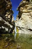 Santa_Paula_Canyon_296_03052021 - Punch Bowl-fringed view of the Santa Paula Canyon Falls in the mid-afternoon