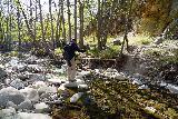Santa_Paula_Canyon_356_03052021 - Dad traversing Santa Paula Creek as we were making our way back to the trailhead