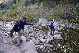 Santa_Paula_Canyon_387_03052021 - Mom and Dad back at the trio of creek crossings of Santa Paula Creek near the start of the hike