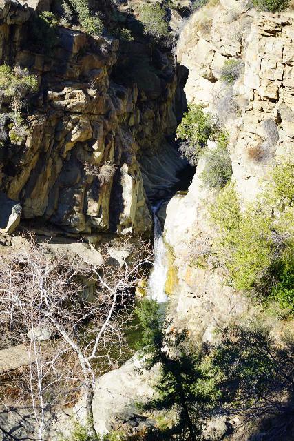 Santa_Paula_Canyon_440_02052021 - Looking down at the context of Santa Paula Canyon Falls from the Big Cone Campground