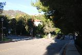 Santa_Ynez_Falls_010_01192019 - The street junction right in front of two private community gates as well as the Topanga State Park Trailhead