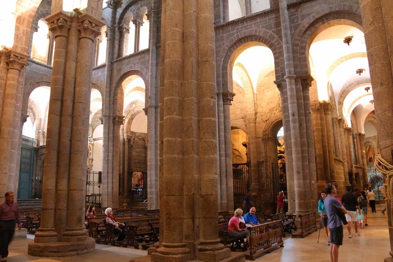 Inside the Catedral de Santiago de Compostela