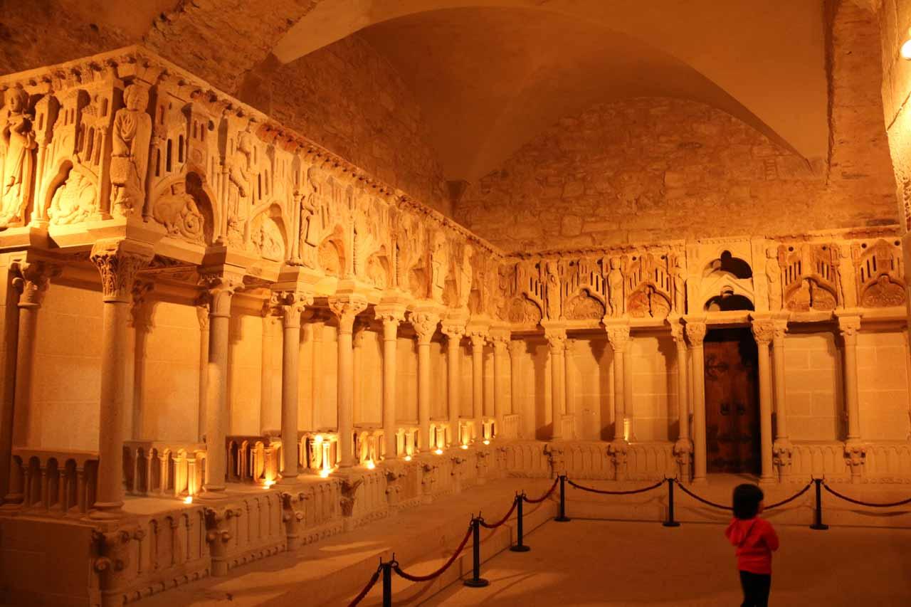 Inside the Museo de Catedral de Santiago de Compostela