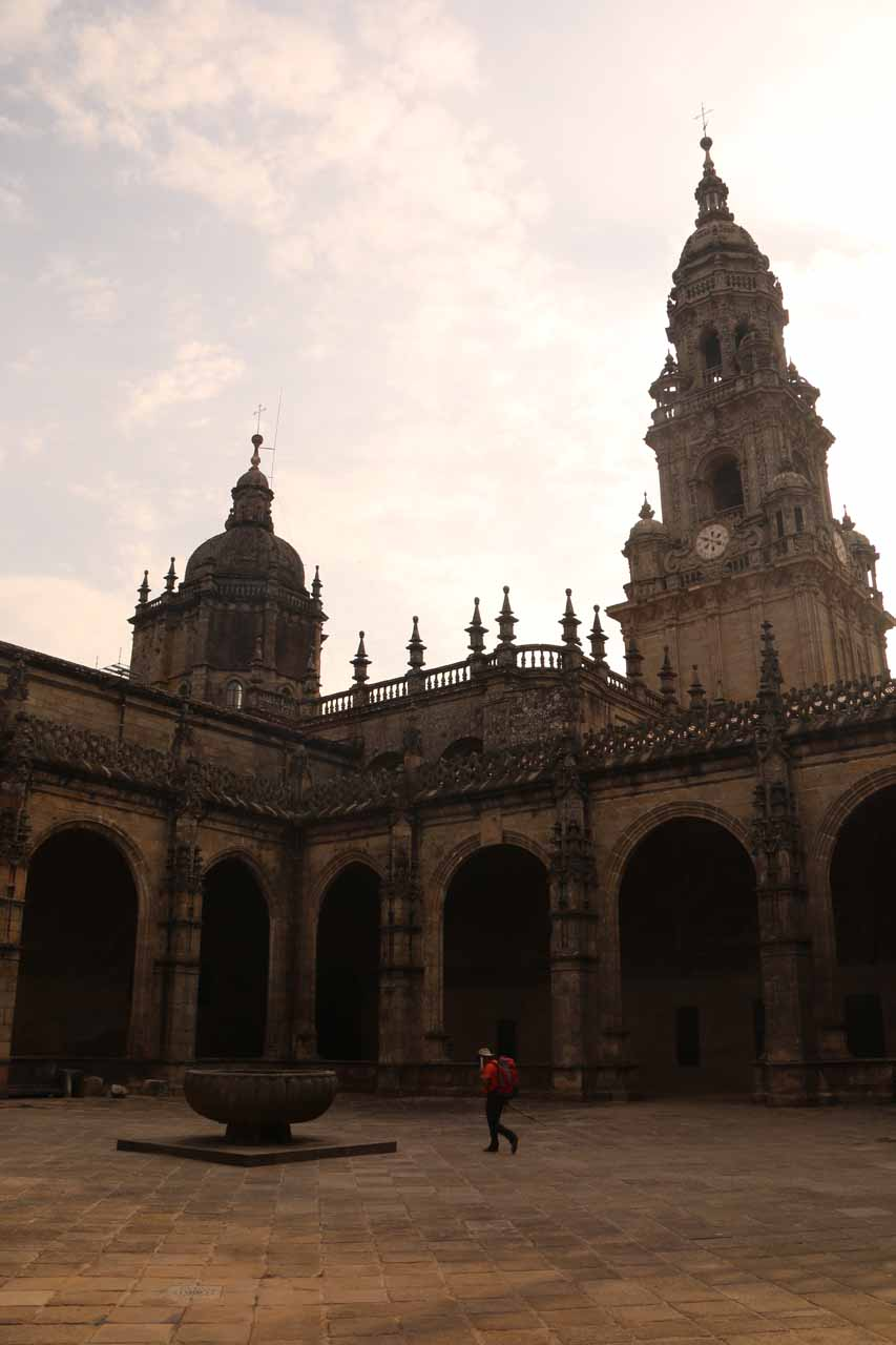 Looking across the courtyard of the Catedral from within the museum excursion