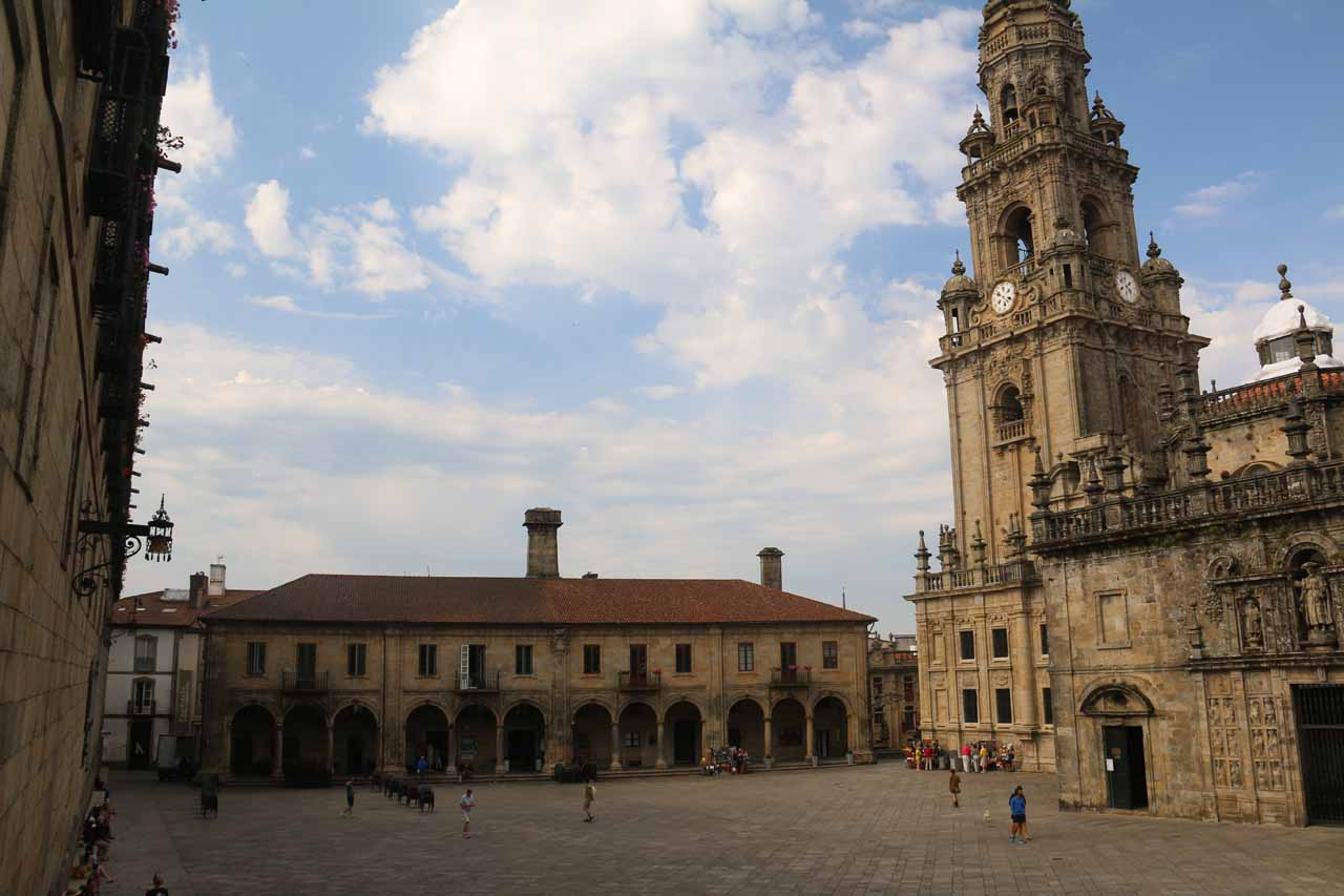 When we exited the museum and cathedral excursion, we wound up at the Praza da Quintana