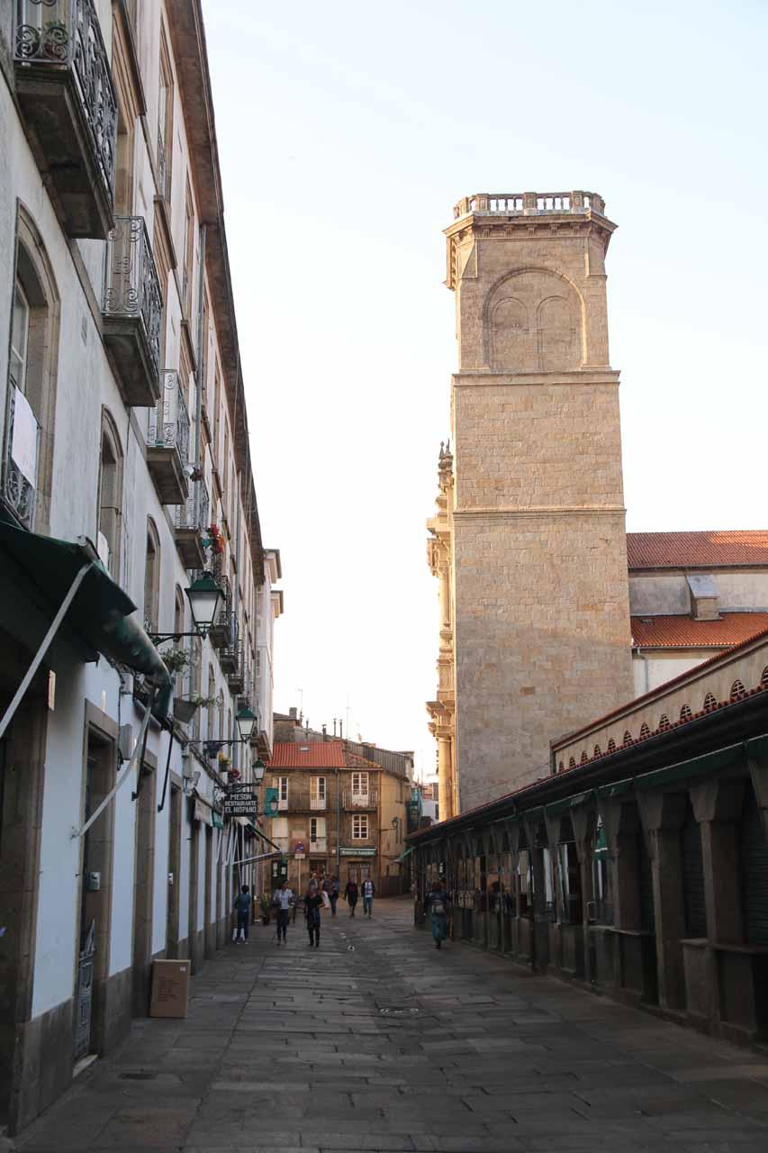 Back in Santiago de Compostela after our brief half-day excursion to Ezaro