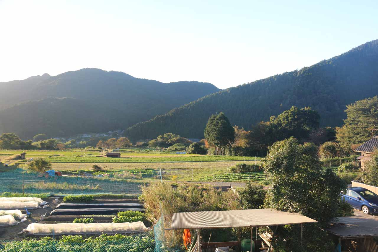This was the nice view from the car park near the Sanzen-in Temple towards the farms neighboring Ohara
