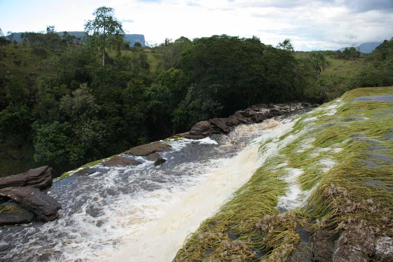 The brink of Sapito Falls