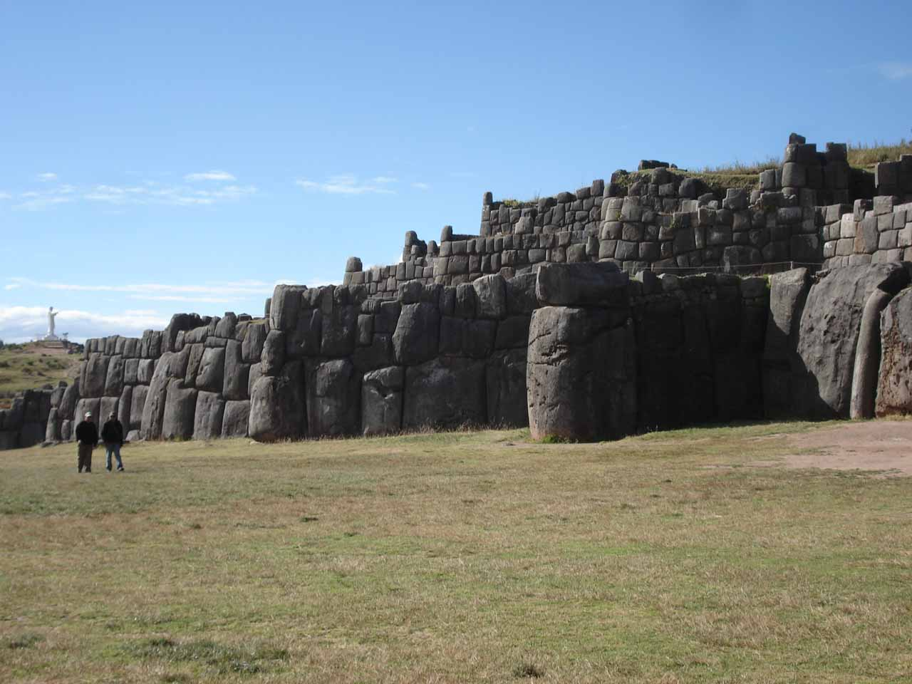 The ancient ruins of Saqsaywaman near the high-altitude town of Cusco, which was where most people would fly into on their way to the Sacred Valley and Machu Picchu