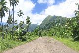 Sauniatu_002_11122019 - Driving the bumpy road inland towards Sauniatu from the north shore of 'Upolu