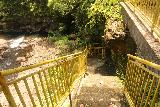 Sauniatu_035_11122019 - Looking down at the steps leading to the banks of the river and the plunge pool for Sauniatu Waterfall