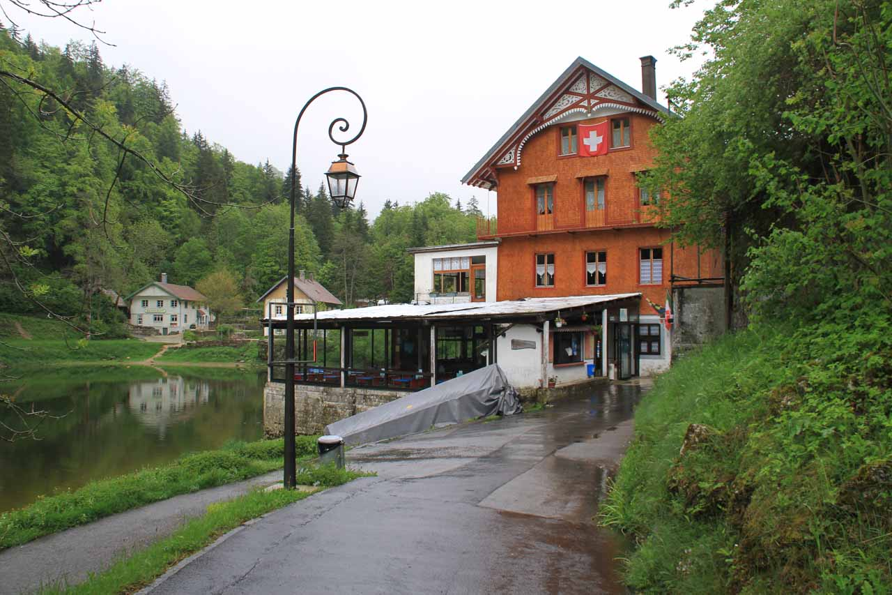 The hamlet on the Swiss side