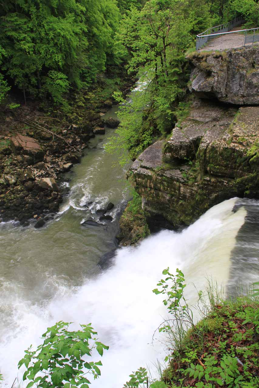 The brink of Saut du Doubs on the French side