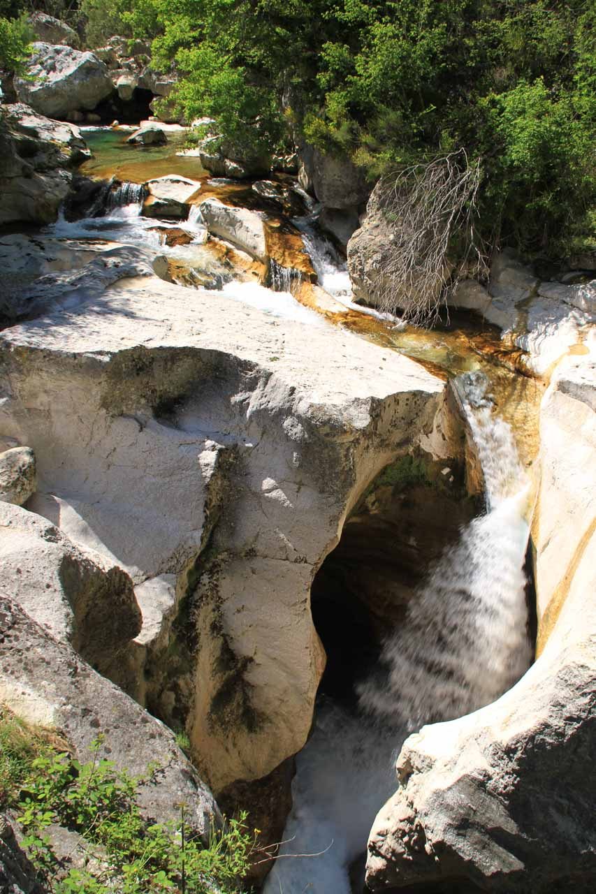 What I believe is the actual Saut du Loup as it fell thunderously on the Loup Stream