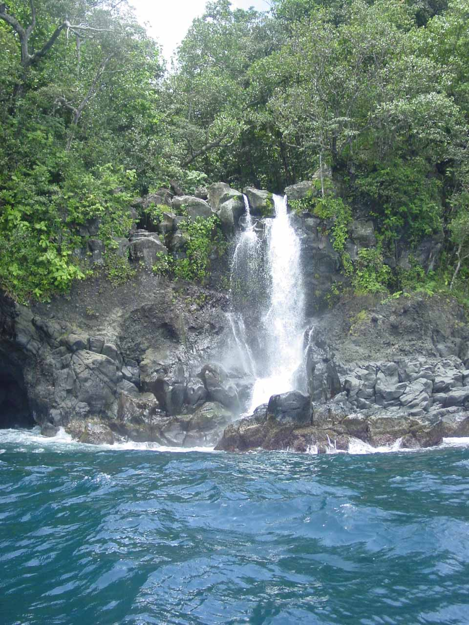 Savulevu Yavonu Waterfall in the rugged shores of Eastern Taveuni