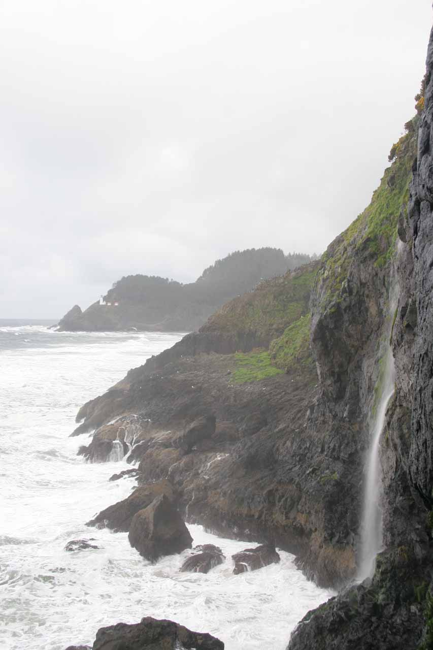 Another look at that attractive waterfall from the Sea Lion Cave