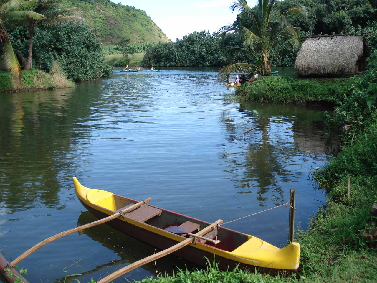 Canoe at Kamokila Hawaiian Village