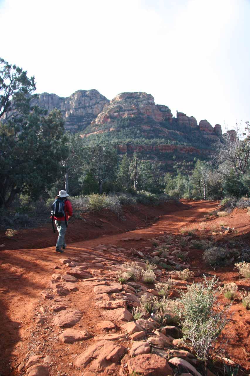 Julie on the trail to Devil's Bridge