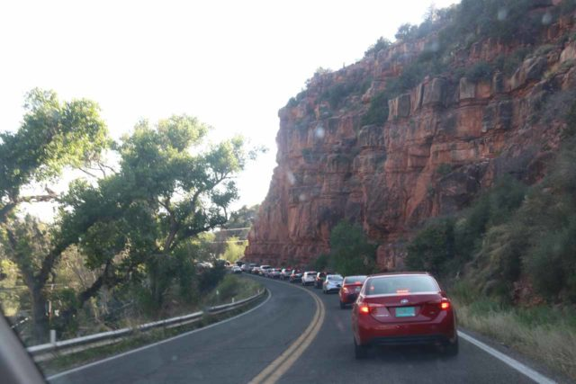 Sedona_17_004_04132017 - A tremendous amount of congestion (caused by a roundabout) on the Hwy 89A as we went from Slide Rock State Park to Sedona
