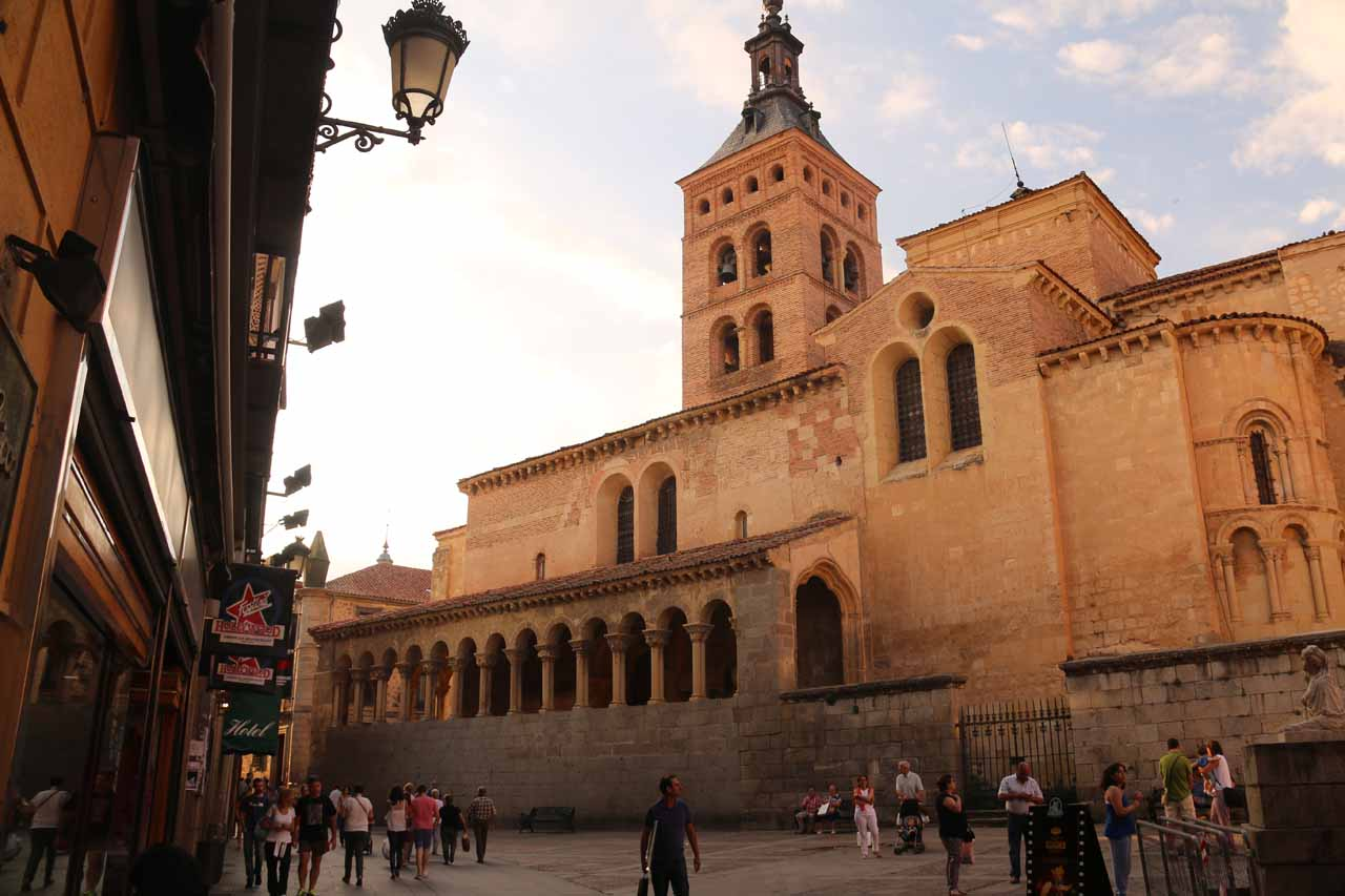 Looking towards the San Martin Church at the Plaza Medina del Campo