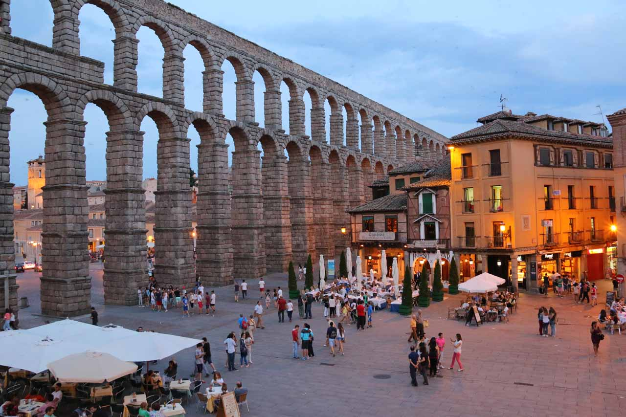 The nearest city to Cascada de los Litueros was probably Segovia, which featured this beautiful Roman aqueduct that was seemingly larger and more engaging than any that we had seen to this point