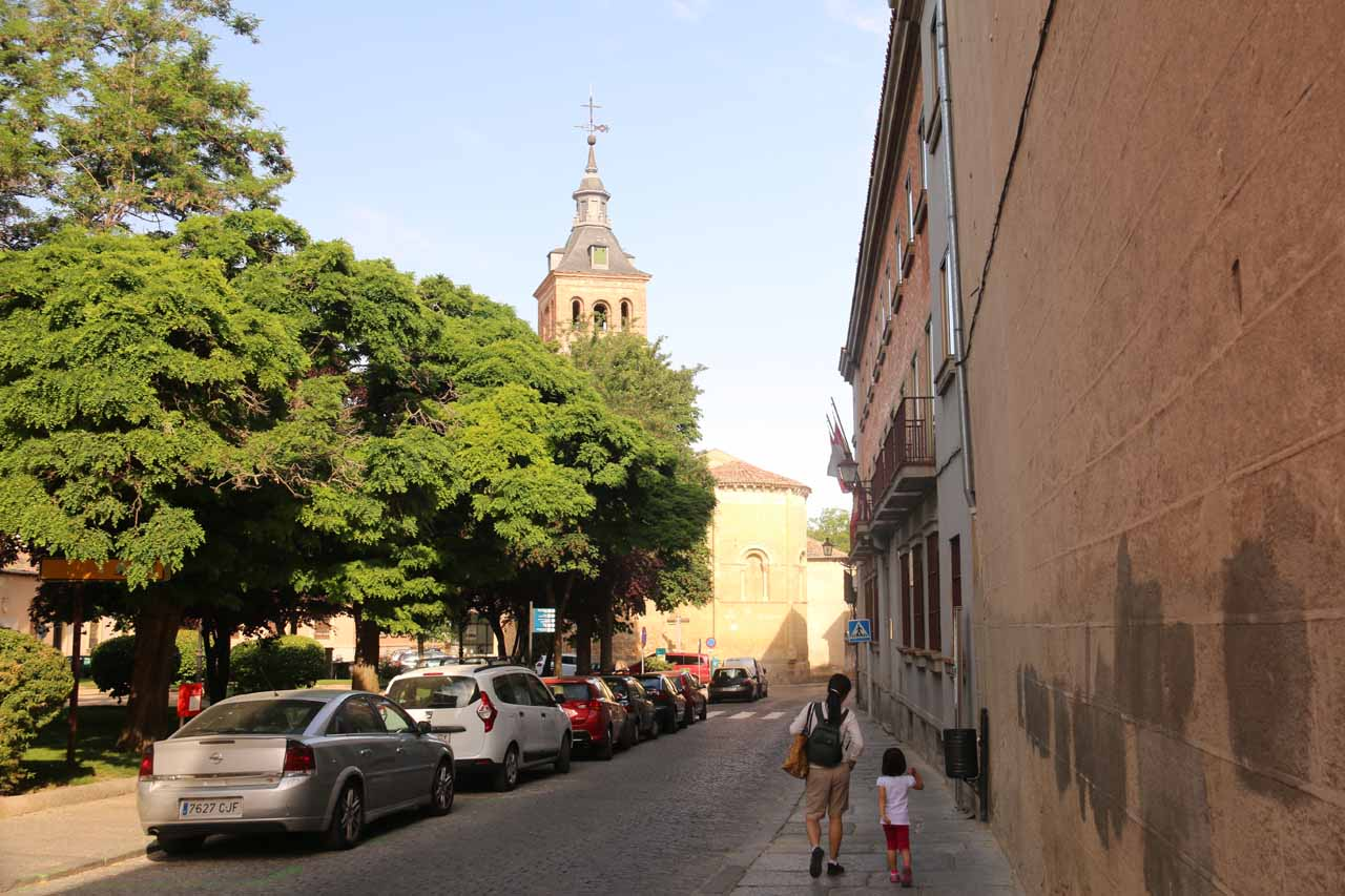 Walking past the Plaza de la Merced on the way to the Alcazar