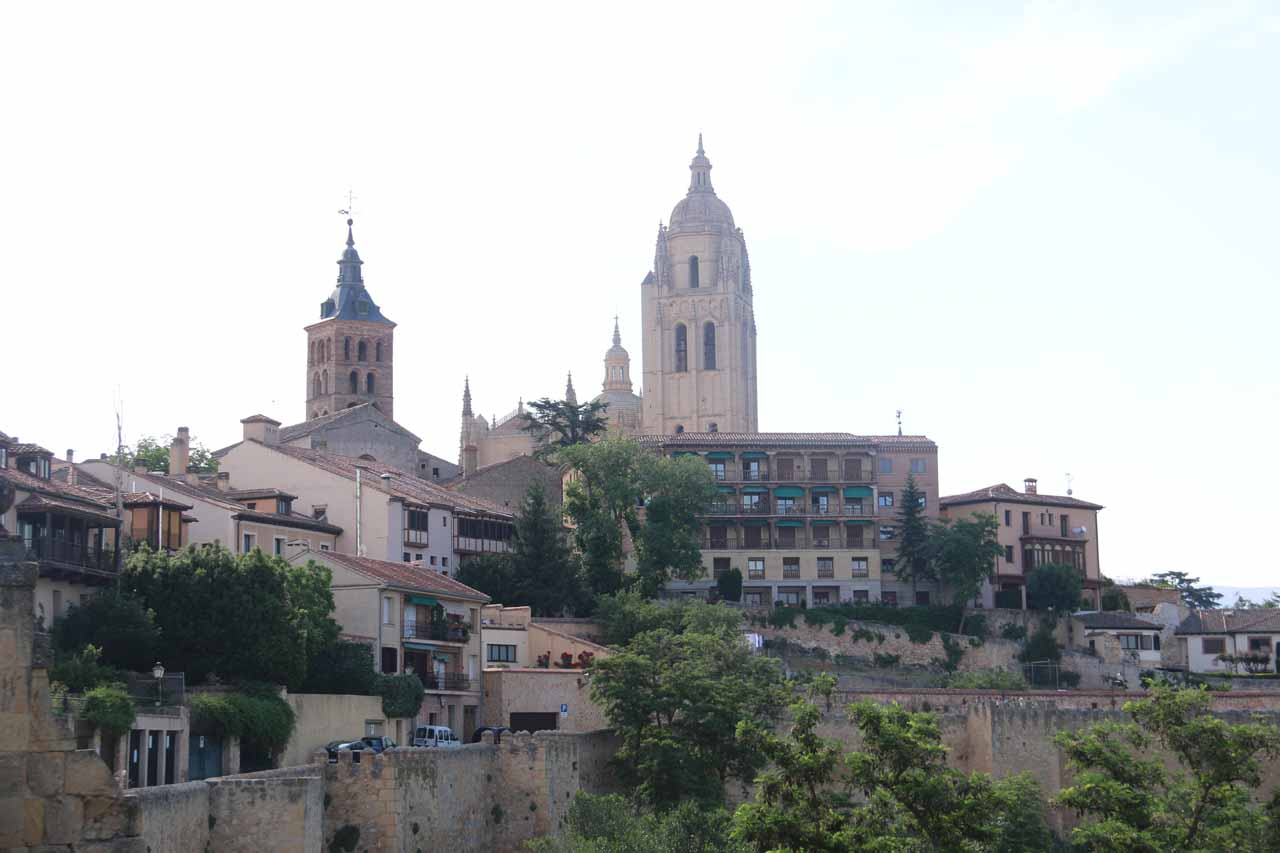 Looking back at the Cathedral from the courtyard of the Alcazar