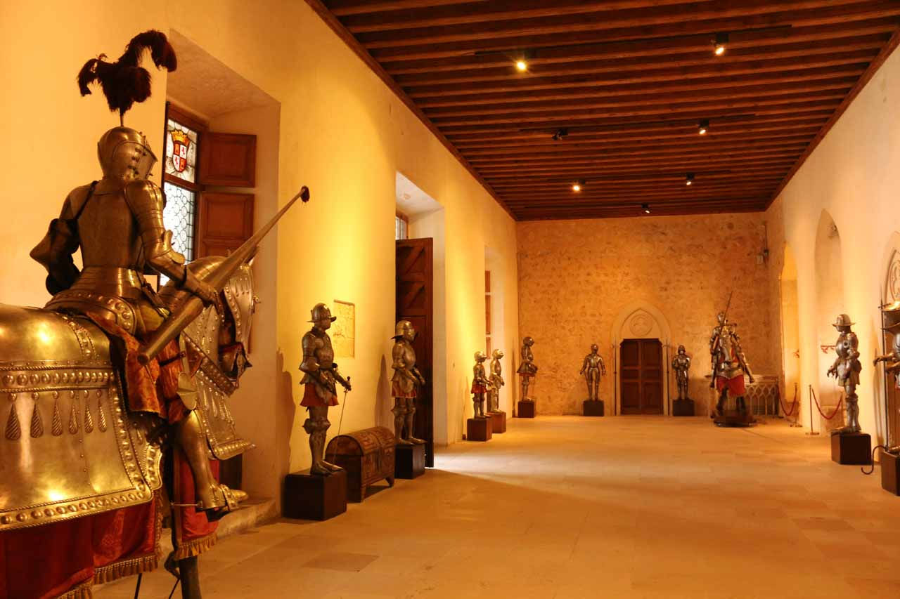 Inside the Alcazar, which was decked out with medieval knights and tapestries