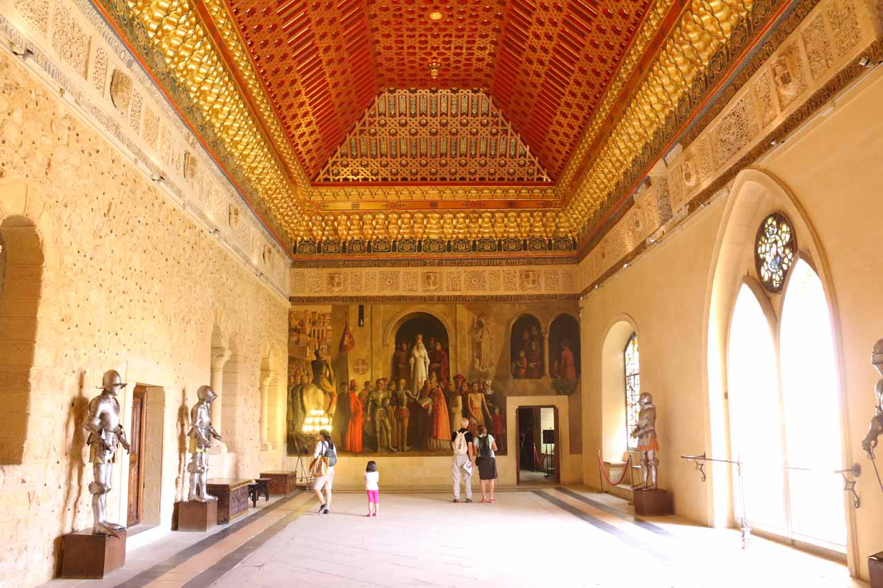 Even though the interior of the Alcazar de Segovia was recreated after a fire, it was still impressive to experience the medieval feel of the place