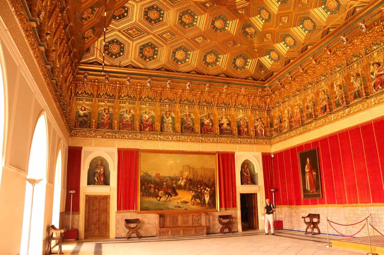 Inside one of the elaborate rooms of the Alcazar de Segovia