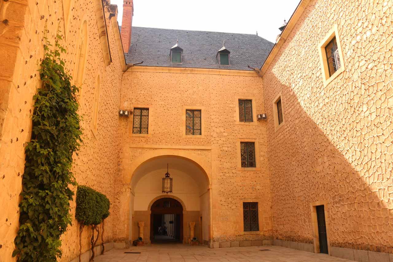 One of the courtyards of the Alcazar de Segovia
