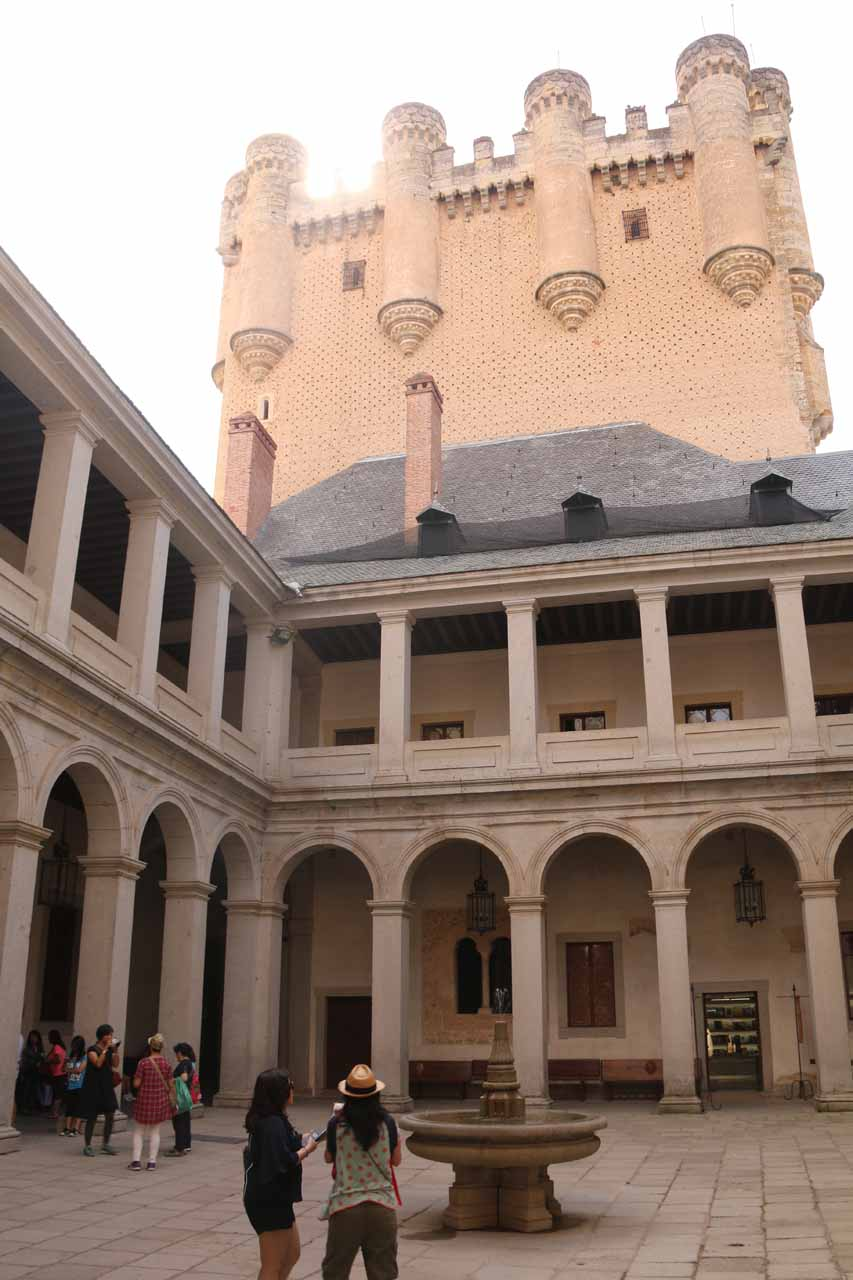 A beautiful courtyard within the Alcazar