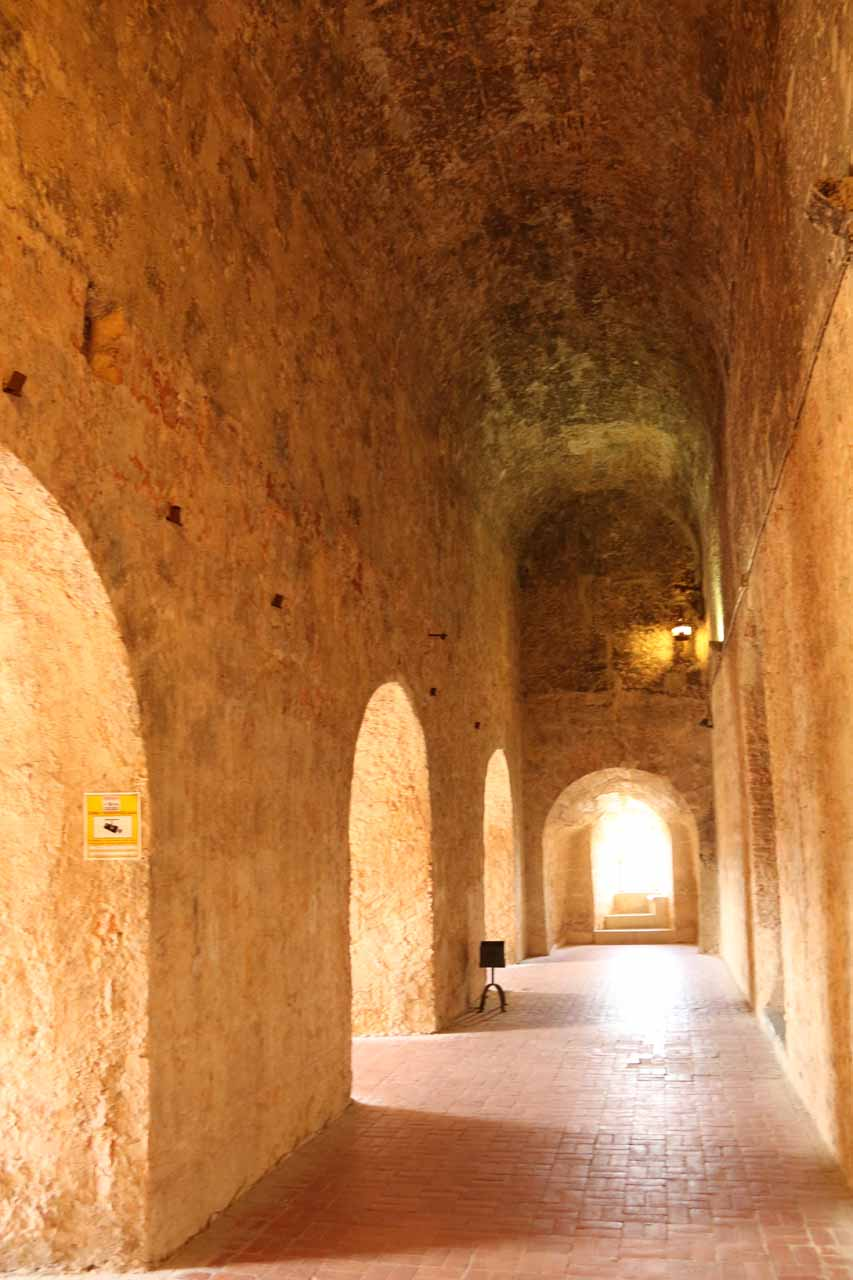 We noticed this arched corridor as we were ascending up the tower of the Alcazar de Segovia