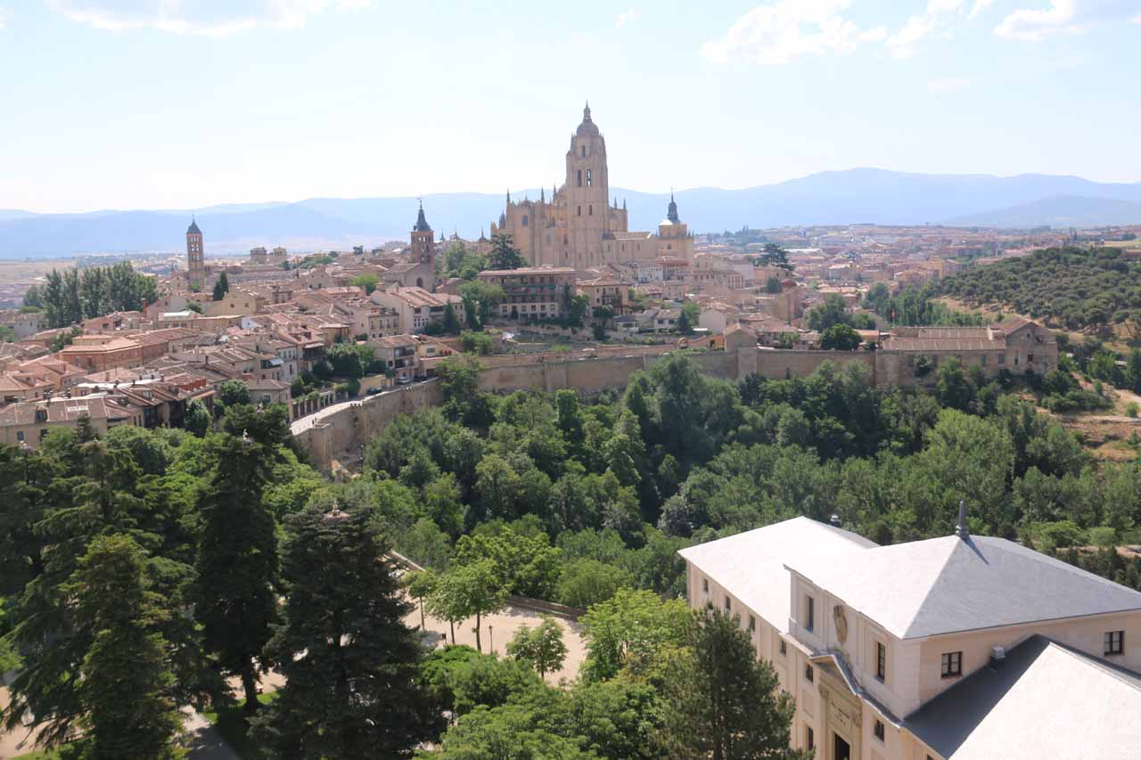 Commanding view of the Catedral de Segovia from the top of the tower of the Alcazar