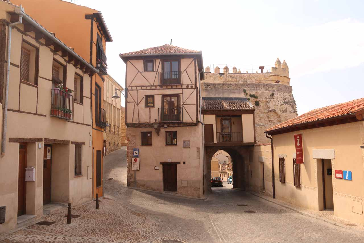 The San Andres Gate seen from the Plaza del Socorro