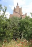 Segovia_458_06062015 - Poppies growing before this backside view of the Alcazar de Segovia very much resembling a Disneyland castle