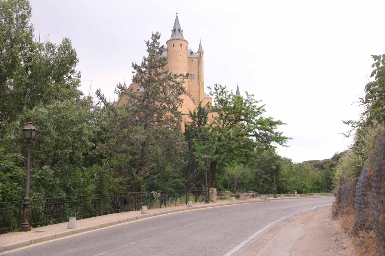 Context of the Disney-like view of the Alcazar de Segovia