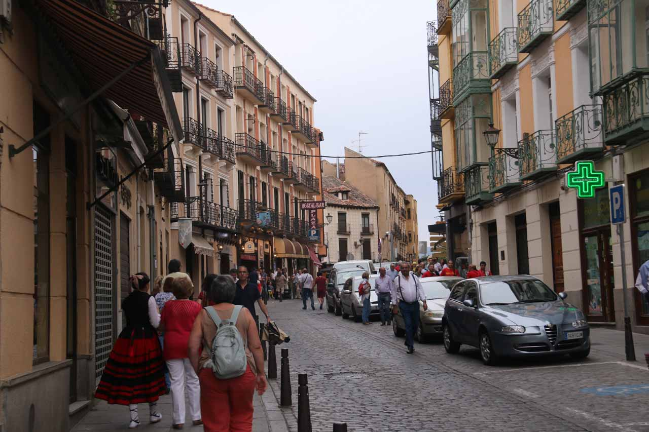 Approaching the Jose Maria's Restaurant as we sought out dinner for our last night in Segovia