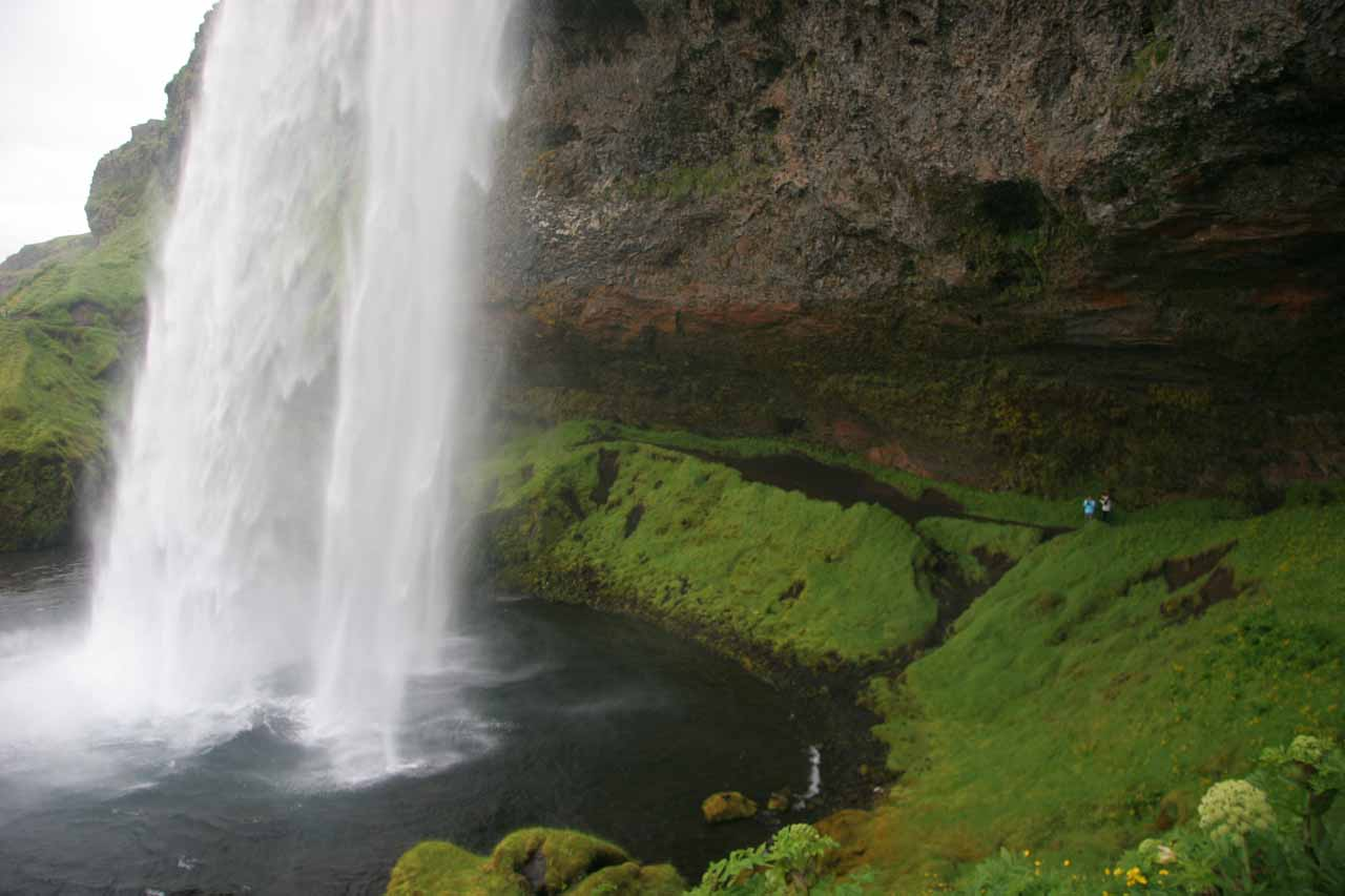 View from the backside of Seljalandsfoss