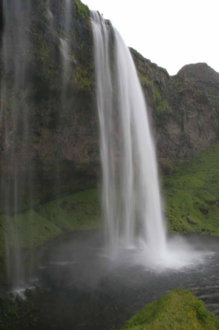 Side view of Seljalandsfoss as we were coming out the other end of the loop