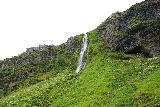 Seljalandsfoss_and-Gljufrabui_065_08072021 - Looking up at a side waterfall in between Seljalandsfoss and Gljufrabui