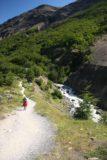 Sendero_Torres_del_Paine_052_12252007 - The trail descending to the river